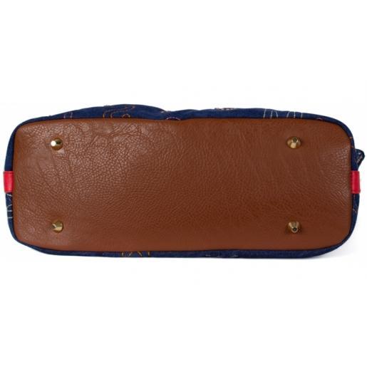 Женская сумка синяя из джинсы Vittoria 190D