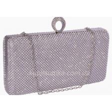Вечерний женский клатч серебристого цвета 17U32