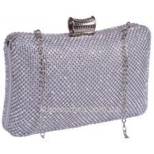 Вечерняя женская сумка - клатч 19U733 Серебристый