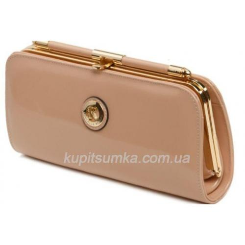 Женская сумочка бежевого цвета 90И159