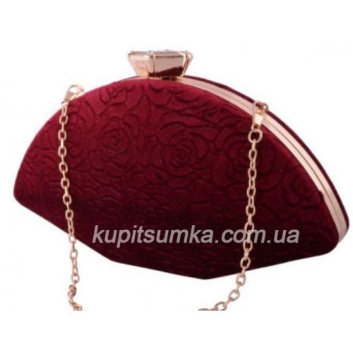 Женский клатч с тиснением, бордового цвета, для особых случаев