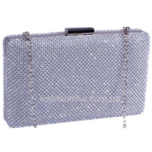 Женская сумка - клатч с декоративными  кристаллами