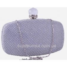 Женский вечерний клатч серебристого цвета 09U9