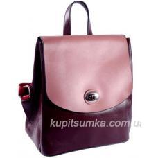 Кожаный женский рюкзак 24U3-26 Burgundia