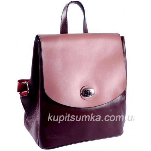 Молодёжный стильный рюкзак из натуральной кожи Марсала