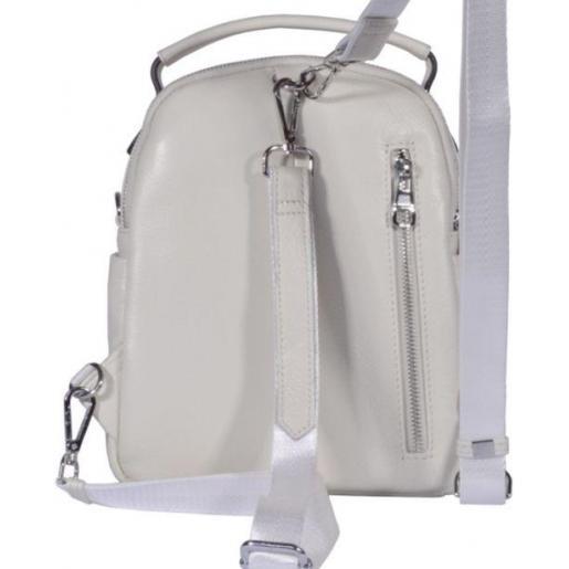 Кожаный женский рюкзак 22U2 White