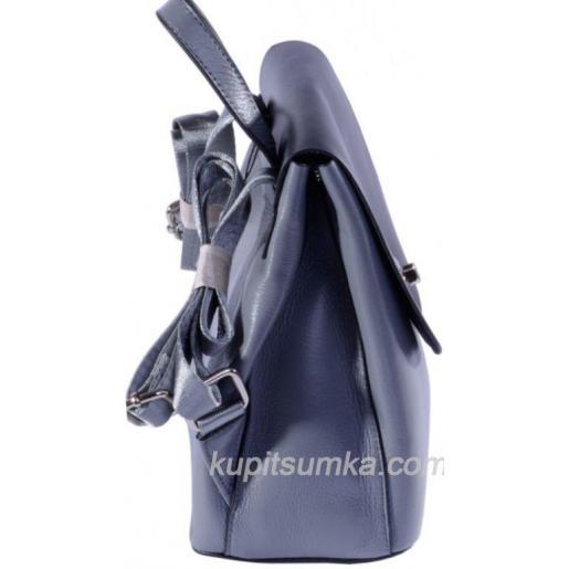 Молодёжный стильный рюкзак из натуральной кожи Серый