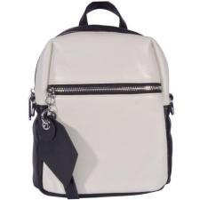 Женский кожаный мини рюкзак черно-белого цвета