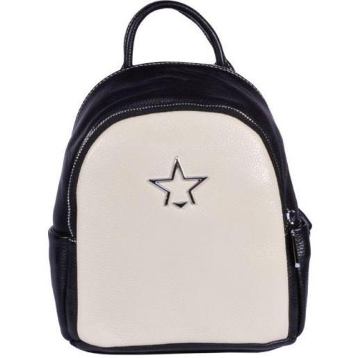 Женский кожаный рюкзак 37U3-2 черный