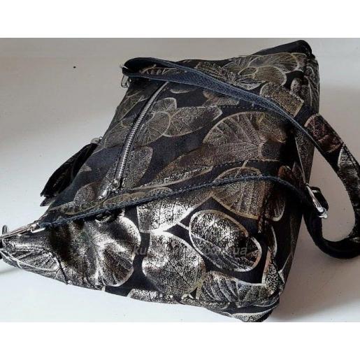 Комфортная женская сумка из натуральной цветной замши Черный