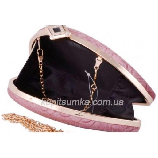 Женский клатч с тиснением, для особых случаев, цвет розовый,