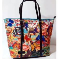 Женская кожаная сумка цветная VF69U973