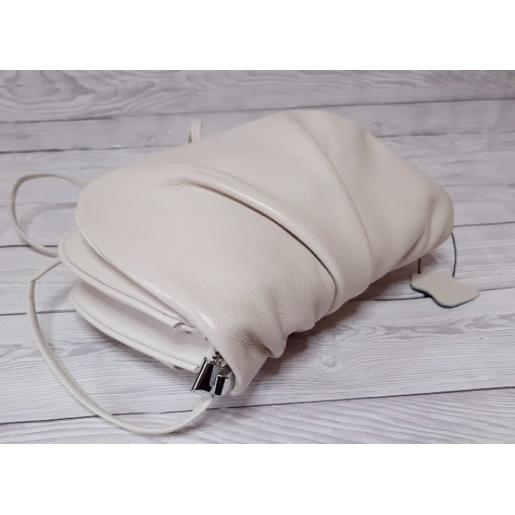 Кожаная женская сумка 114N Бежевый