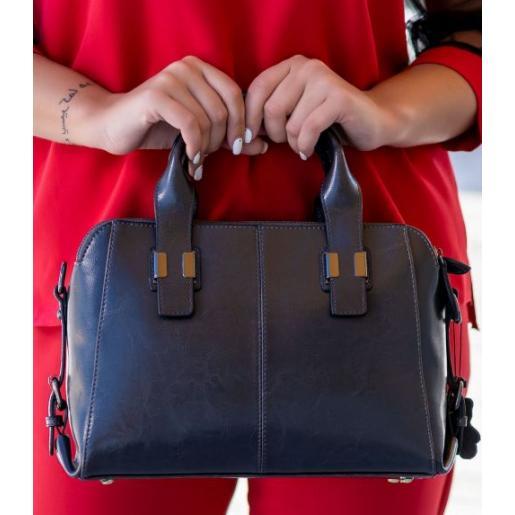 Женская кожаная сумка 20U5-1 Серый