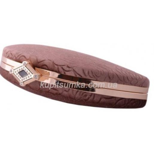 Женский клатч с тиснением, для особых случаев, коричневого цвета
