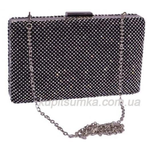 Модная женская сумка - клатч с декоративными  кристаллами