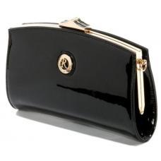 Очаровательный женский клатч с логотипом бренда Черный