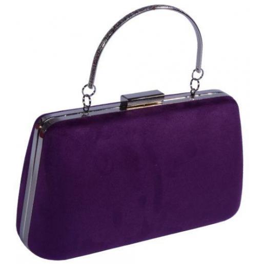 Стильный клатч для выпускного вечера фиолетового цвета
