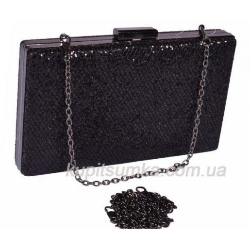 Стильный клатч для торжественных случаев Черный