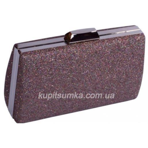 Праздничный женский клатч 75U59 Коричневый
