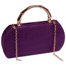Элегантный вечерний клатч в виде сумки из замши лилового цвета