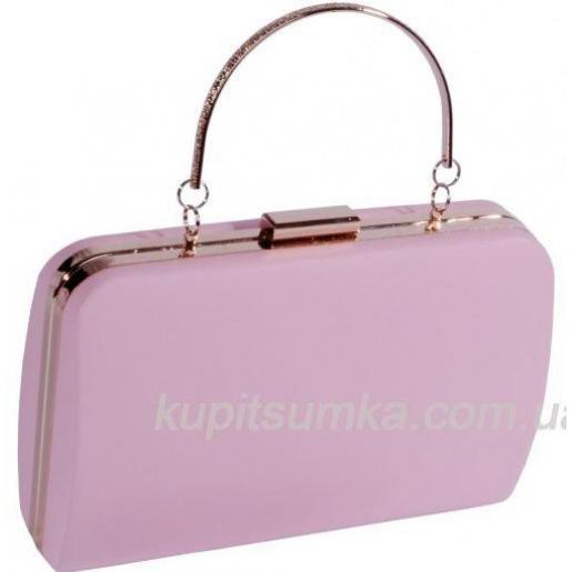 Стильный вечерний клатч из кожзаменителя Розовый