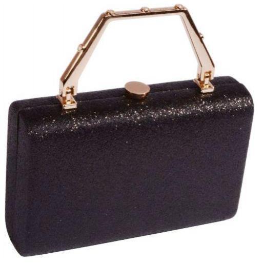 Коктейльный клатч из черной парчи 97U13