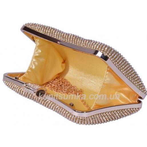 Вечерняя женская сумка-клатч 19U733 Золотистый