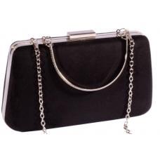Женская сумка-клатч черного цвета из высококачественной искусственной замши