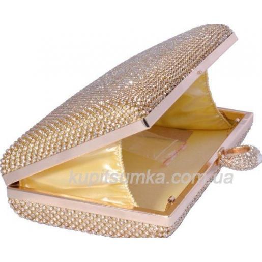Вечерний женский клатч золотистого цвета 17U32