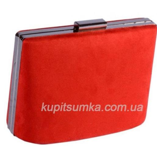 Вечерний женский клатч из искусственной замши 66U16 Красный