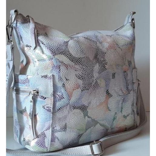 Кожаная разноцветная сумка для женщин 92U3