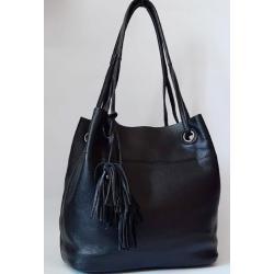 Женская кожаная сумка на длинных ручках 445N