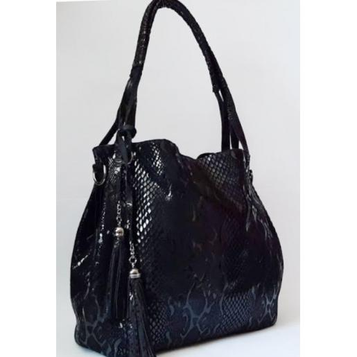 Женская сумка кожаная 808N Чёрный