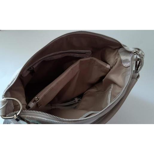 Женская кожаная сумка на лето Цветная 92U3