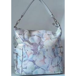 Кожаная белая сумка для женщин 92U3-3