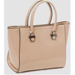 Женская сумка из эко кожи бежевая 701-1