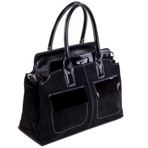 Женская замшевая сумка черная VF780U