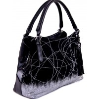 Женская сумка из замши и кожзаменителя VF314N black