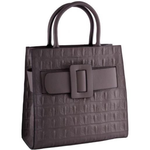 Женская кожаная сумка Тоут 05U2-2 Бежевый
