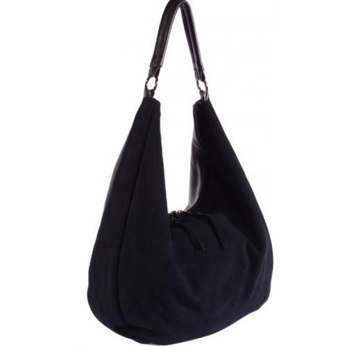 Замшевая женская сумка O-57U4-1 Синий