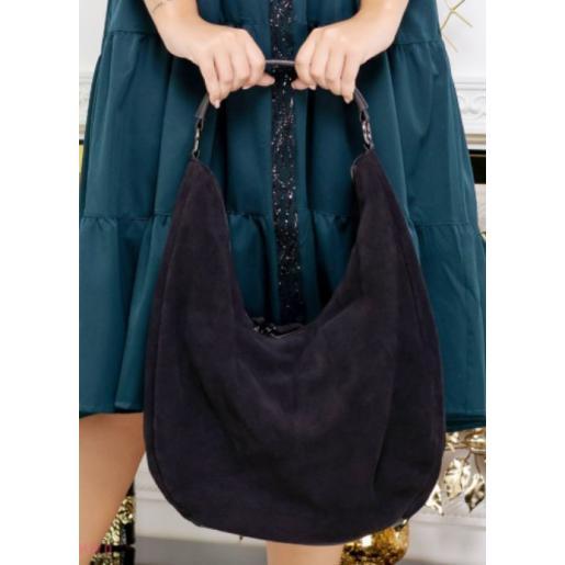 Женская замшевая сумка O-57U4 Коричневый темный