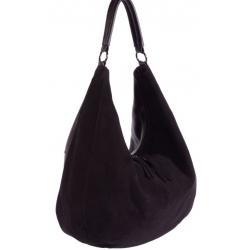 Женская замшевая сумка коричневая O-57U4