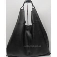 Женская сумка большого размера из натуральной кожи W90U38-1 Чёрный