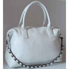 Женская кожаная сумка белая 23U