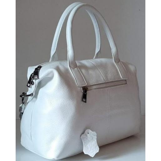 Женская кожаная сумка 23U Белый