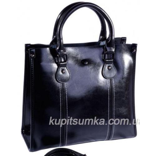 Кожаная женская сумка 20U6 black