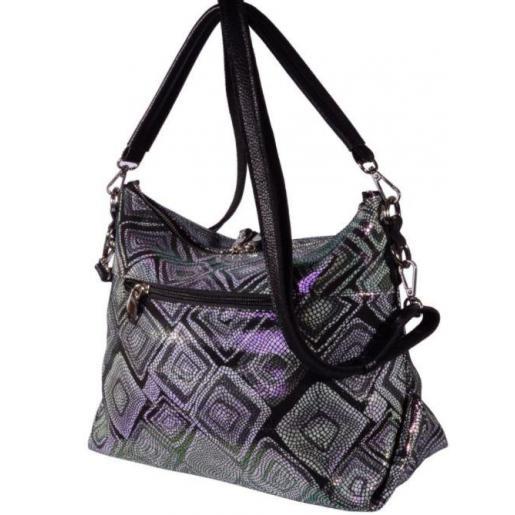 Женская сумка тоут из натуральной кожи 92U4 Черный