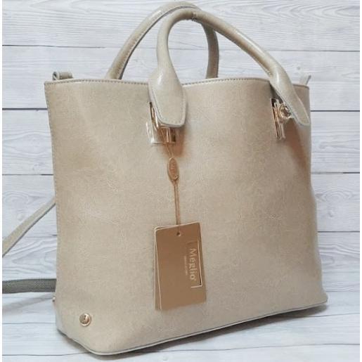 Женская кожаная сумка MEG150-7 Бежевый