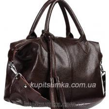 Кожаная женская сумка PB20-4 Коричневый